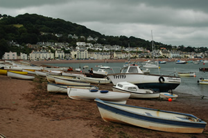 Seaside Scene in Devon on the South West Coast of England